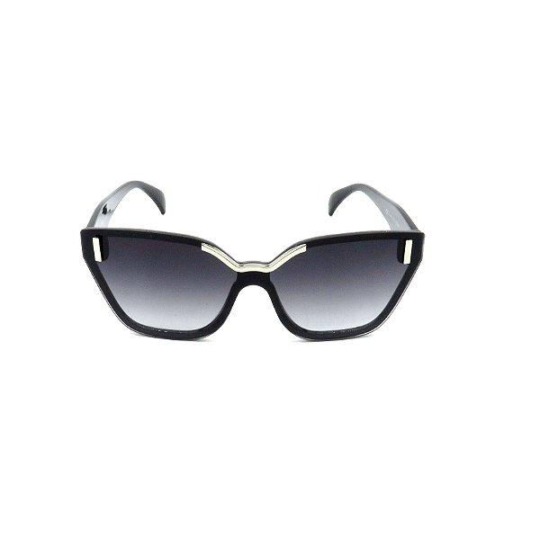 Óculos de Sol Prorider Preto com Detalhes em Prata - CJH72044C1