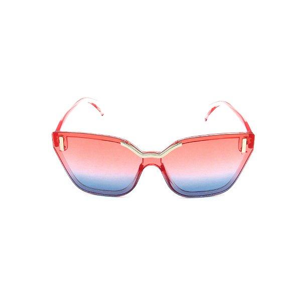 Óculos de Sol Prorider Rosa Translúcido com Detalhes Prata - CJH72044C4