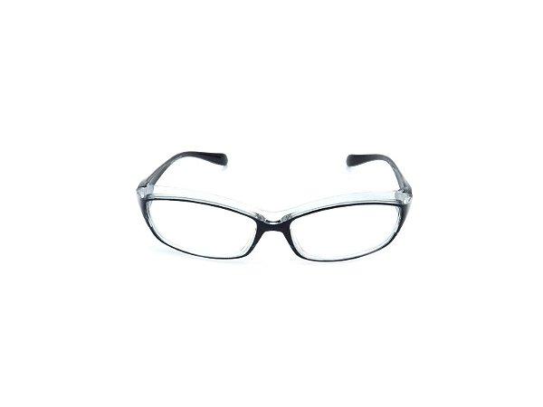 Óculos Receituário Prorider Translúcido com Azul e Preto - KG-400-1