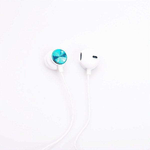 Fone de Ouvido Prorider Acme Inc Le-0209 Branco com Detalhe em Azul Claro Brilhante - AI0030