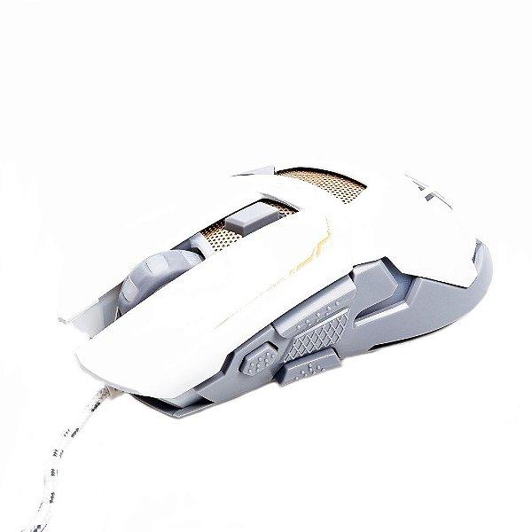Mouse Gamer Prorider Acme Inc GM-720 Branco, Cinza e Dourado - AI004