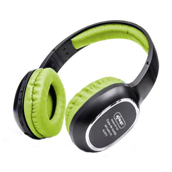 Headphone Prorider Acme Inc KP-439 Preto com Verde Fluorescente - AI003
