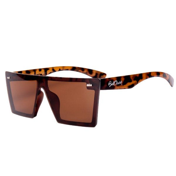 Óculos de Sol Feminino BellClover Animal Print Translúcido