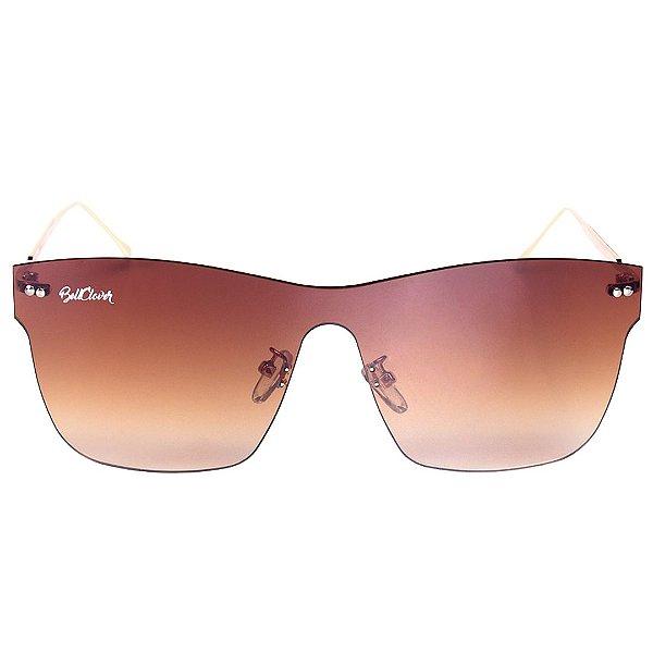 Óculos de Sol Feminino BellClover Dourado com Lente Degrade Marrom