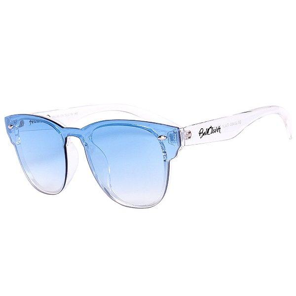 Óculos de Sol BellClover Translúcido com Lente Degrade Azul