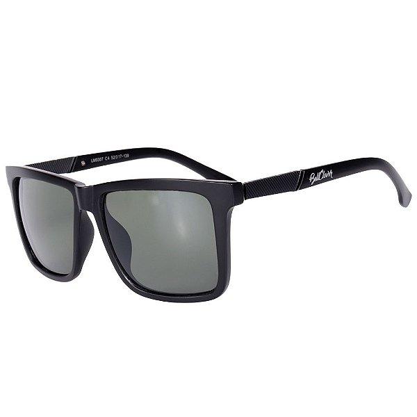 Óculos de Sol Feminino BellClover Preto Fosco com Lente Verde