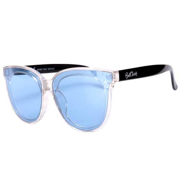 Óculos de Sol BellClover Translúcido com Haste em Preto e Lente Azul
