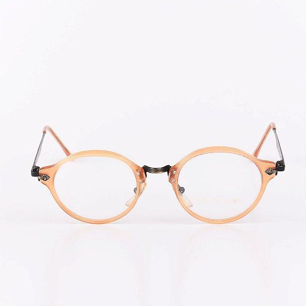 Óculos Receituário Robert La Roche Marrom Claro Translúcido com Dourado e Preto - RROCRCA11