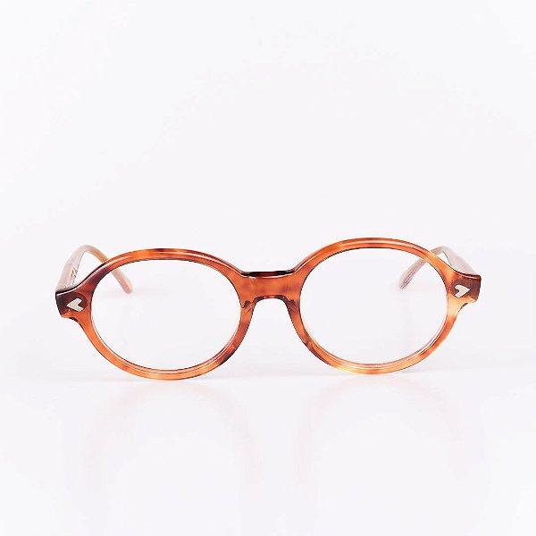 Óculos Receituário Robert La Roche Marrom Alaranjado Mesclado - RROCRCA68