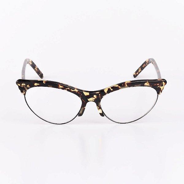 Óculos Receituário Robert La Roche Preto com Haste Mesclada Translúcida - RROCRCA94-2