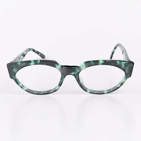 Óculos Receituário Robert La Roche Verde Mesclado Translúcido Fosco - RROCRCA97