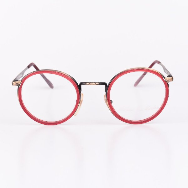 Óculos Receituário Robert La Roche Vermelho Translúcido com Dourado e Preto Fosco - RROCRDF23