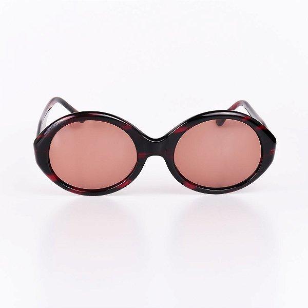 Óculos de Sol Feminino Robert LA Roche Vinho Mesclado Translúcido - RROCSCA113