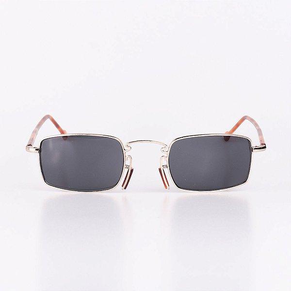 Óculos de Sol Masculino Robert La Roche Dourado com Marrom Claro Mesclado - RROCSCA116