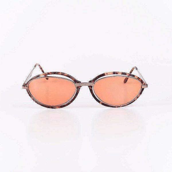 Óculos de Sol Feminino Robert La Roche em Animal Print com Dourado - RROCSCA126-1