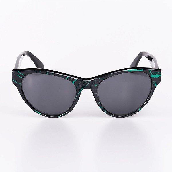 Óculos de Sol Feminino Robert La Roche Rajado Preto e Verde - RROCSLR195
