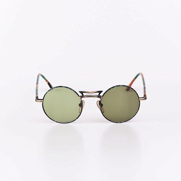 Óculos de Sol Robert La Roche Mescla e Dourado com Lente Verde - RROCSLR333