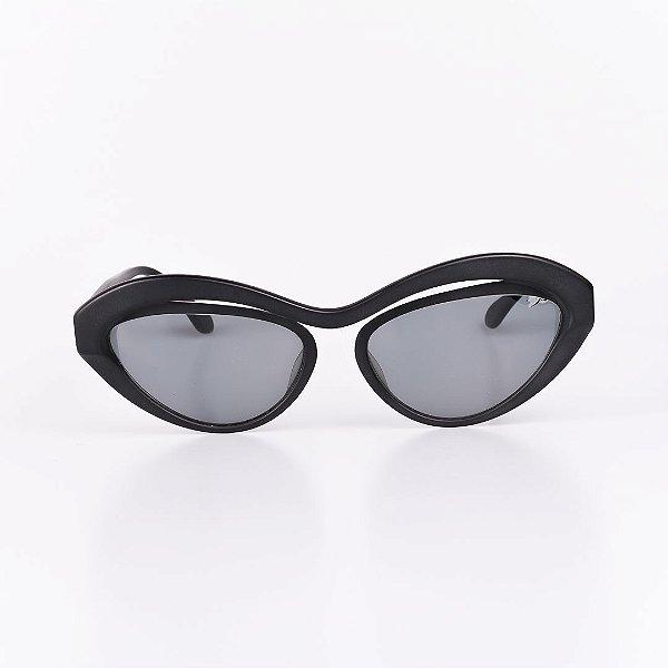 Óculos de Sol Feminino Robert La Roche Preto Fosco com Lente Fumê - RROCSMOD100