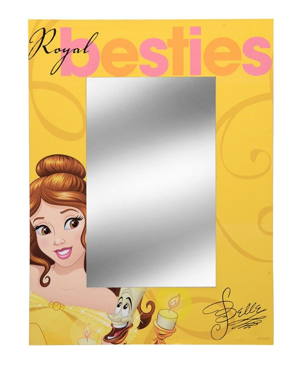 espelho Princesa Bela 30x40cm