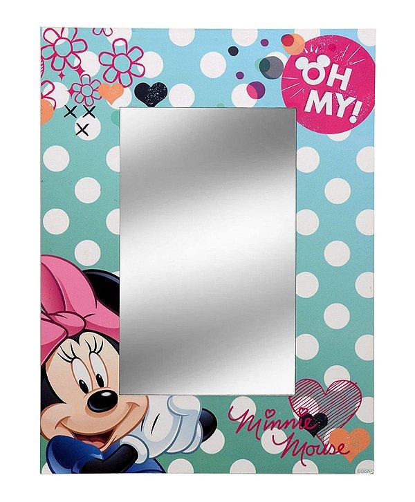 Espelho Tiffany Rosa Minnie 30x40cm