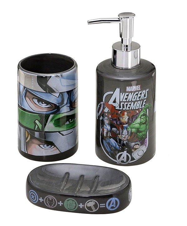 Jogo de Banheiro Os Vingadores 3 Peças - Marvel