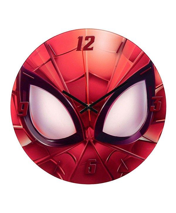 Relógio Vermelho Homem Aranha 30cm