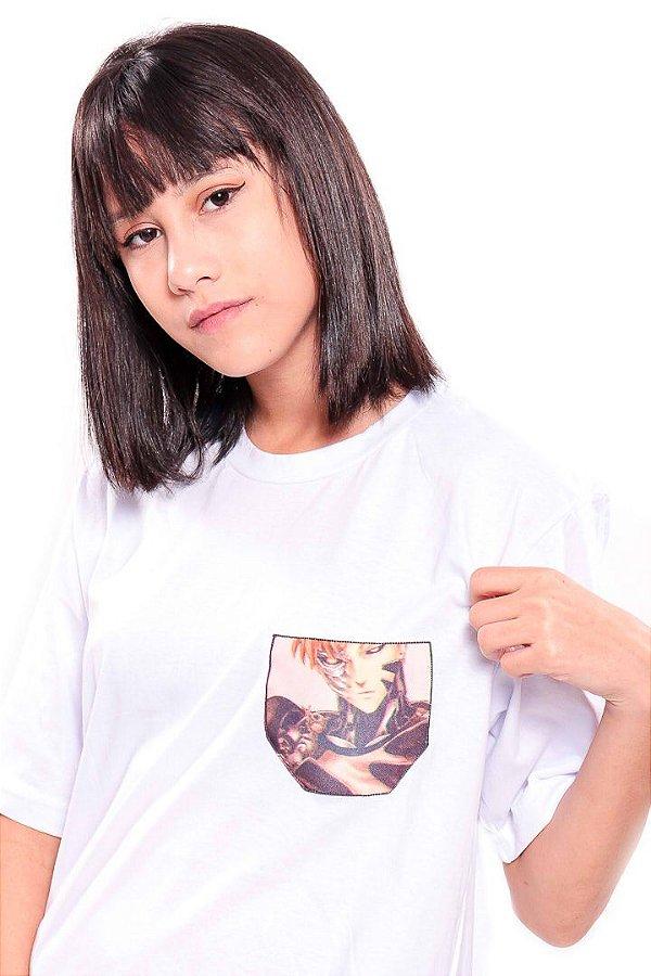Camiseta Prorider Zeno On Branca com Bolso Pequeno estampado - ZOCAM21