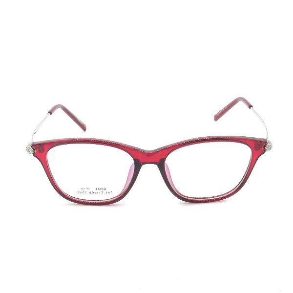 Óculos Receituário Prorider Vermelho Translúcido com Prata - 2847c38
