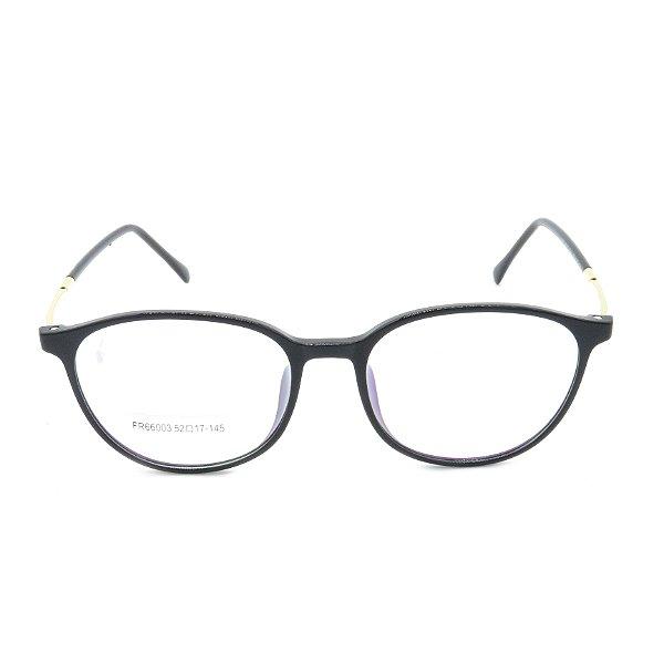 Óculos Receituário Prorider Arredondado Preto e Dourado - fr66003c1
