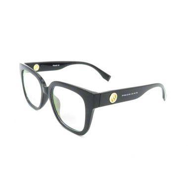 Óculos Receituário Prorider Quadrado Preto com Detalhe Dourado - fr66013c1