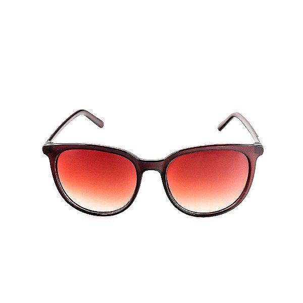 Óculos Solar Voor Vert Marrom com Detalhe Prata - VVOCS20647