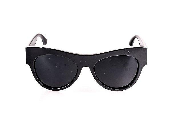 Óculos Solar Voor Vert Preto e Vermelho com Detalhe em Prata - VVOCSLEANAN