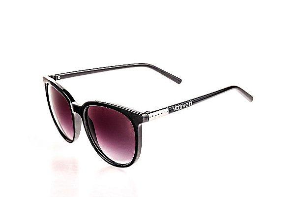 Óculos de Sol Voor Vert Preto com Detalhe Prata - VVOCS20647-1