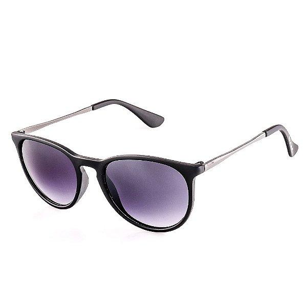 Óculos de Sol Voor Vert Preto Fosco com Grafite - VVOCS25236