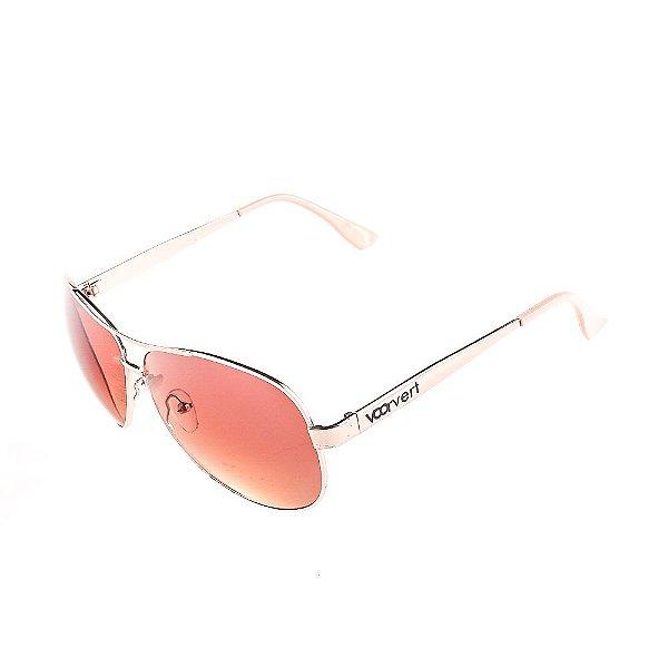 Óculos de Sol Voor Vert Dourado com Bege - VVOCSD8045