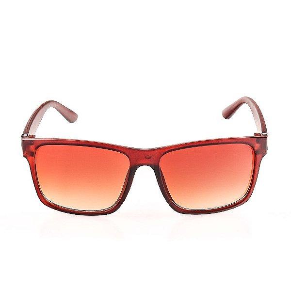 Óculos de Sol Voor Vert Marrom Fosco com Detalhe em Grafite - VVOCS25248-2
