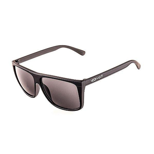 Óculos de Sol Voor Vert Preto Fosco com Lente Fumê - VVOCSXZ-55