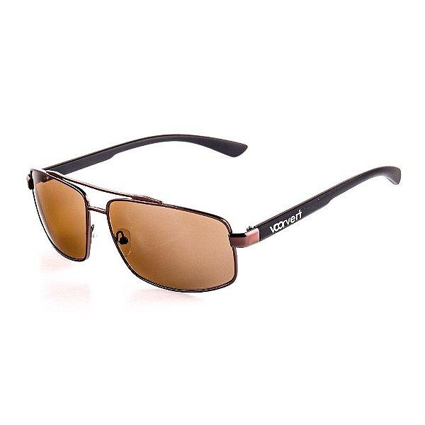 Óculos de Sol Voor Vert Marrom com Preto Fosco - VVOCSHT3594C2