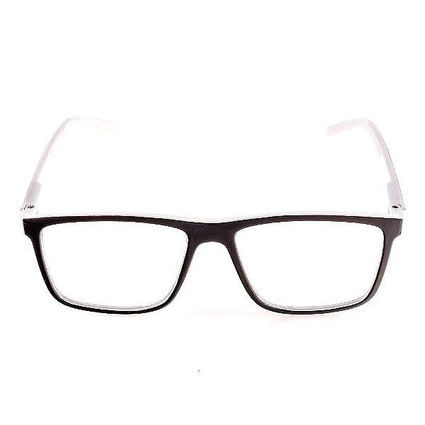 Óculos Receituário Voor Vert Preto e Branco - VVOCRGP022