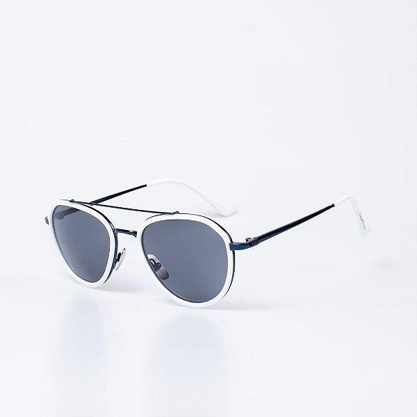 Óculos de Sol OTTO - Branco com Azul Escuro