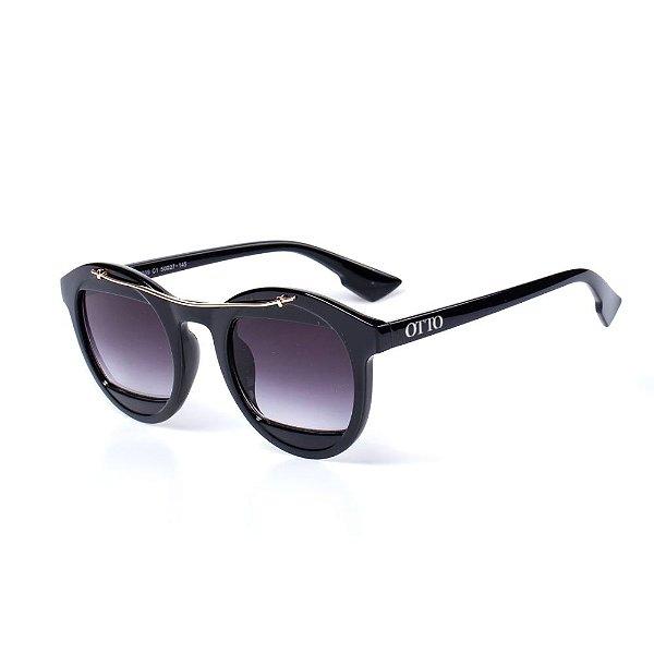 Óculos de Sol OTTO - Preto com Detalhe Dourado