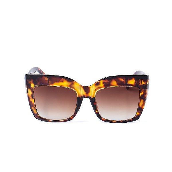 Óculos de Sol OTTO - Animal Print Com Detalhe Dourado