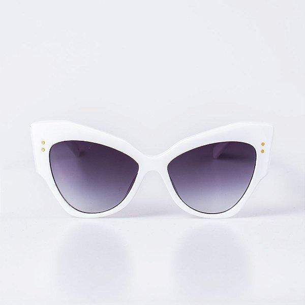 Óculos de Sol OTTO - Branco com Lente Degradê