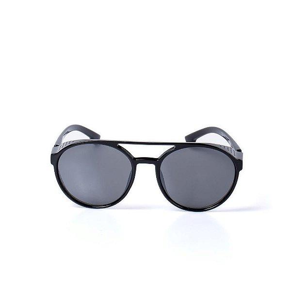 Óculos de Sol OTTO - Preto Redondo Vintage