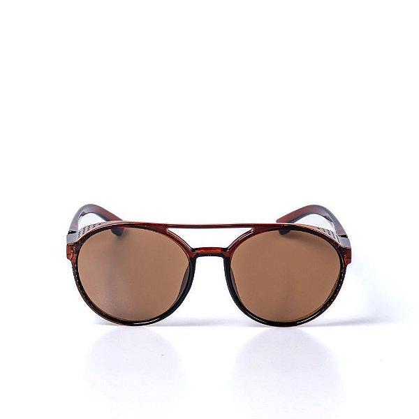 Óculos de Sol OTTO - Marrom Redondo Vintage