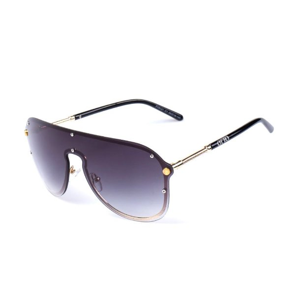 Óculos de Sol OTTO - Preto com Dourado Lente Degradê