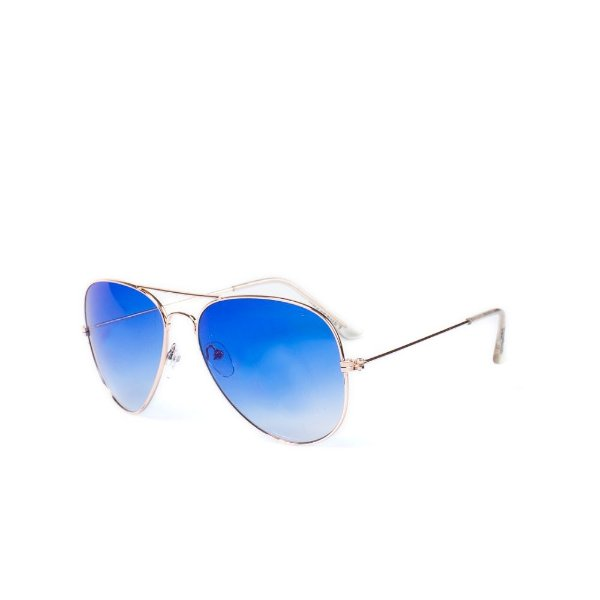 Óculos de Sol OTTO - Dourado com Lente Degradê Azul