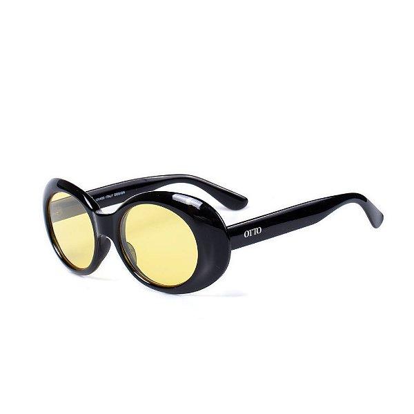 Óculos de Sol OTTO - Preto com Lente Amarela
