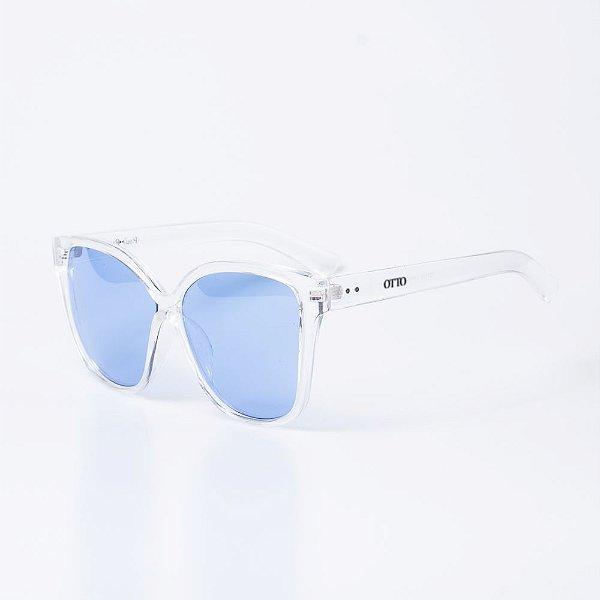 Óculos de Sol OTTO - Translúcido com Lente Azul