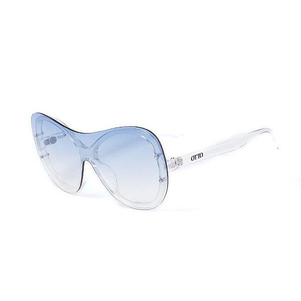 Óculos de Sol OTTO - Translúcido com Lente Degradê Azul